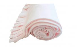 Mantita básica de forro polar con flecos