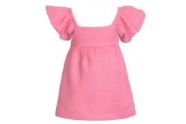 Vestido rosa chicle con lazo en la espalada