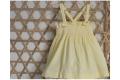 Vestido punto smock amarillito