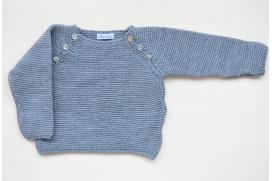 Jersey gris con botones ranglan