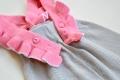 Jumpsuit pink ruffles