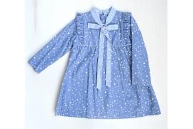 Vestido azul multiestrella