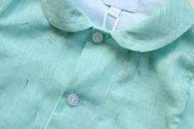 Pelele verde de lino