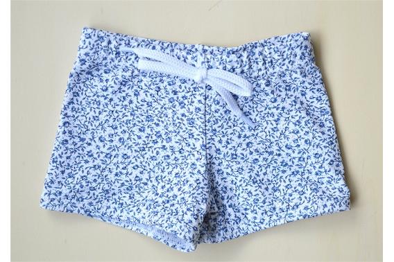 Bañador boxer lycra florecitas azules