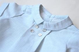 Camisa mil rayas verde agua