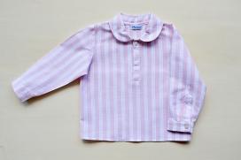 Camisa de rayas rosas y blancas