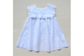 Vestido-jesusito blanco de plumeti