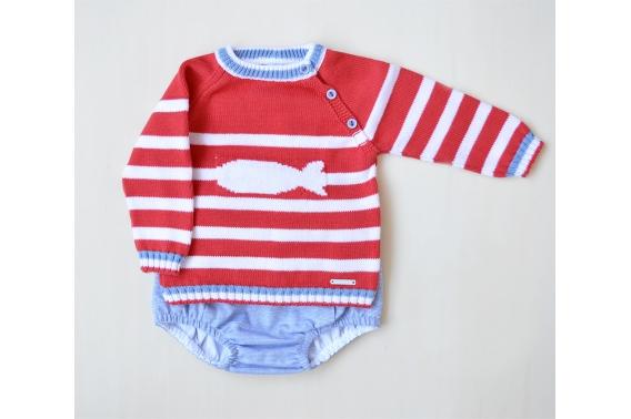 Conjunto jersey pez