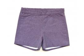 Pantalón corto morado con topitos pequeños unisex