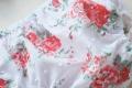 Vestido flores coral