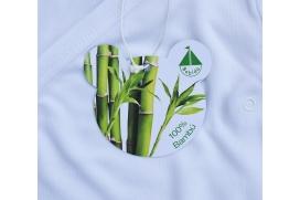Body manga corta y abertura cruzada delatenra 100% de bambú
