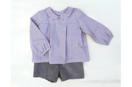 Pantalón de pana cortito marrón de niño